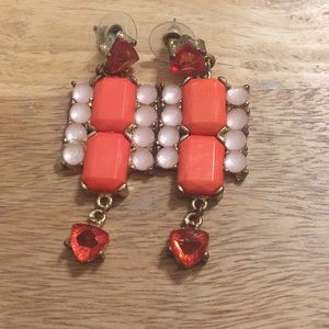 Charming Charlie's Pink Statement Earrings